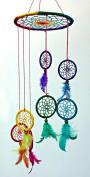 Rainbow Dream Catcher Hanging Spiral Mobile