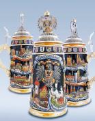German Beer Stein cities 1 litre tankard, beer mug ZO 1941/9913