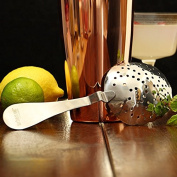 Stainless Steel Biloxi Julep Strainer - Vintage Stainless Steel Concave Cocktail Strainer