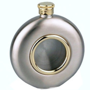 150ml Stainless Steel Gold Plated Hip Flask Engraved