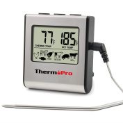 ThermoPro TP16 Grilling, Oven, Cooking, Barbecue, Meat Thermometer with Stainless Steel Step-Down Probe and Built in Countdown Timer with Alarm