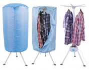 MP Essentials Portable Indoor Hot Air Laundry Clothes Dryer & Airier with Programmable Timer