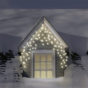 3.5m/11ft 15cm Set of 180 Warm & Ice White Indoor & Outdoor Icicle LEDs