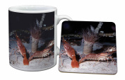 Sea Shrimp Mug and Table Coaster, Ref:AF-25MC