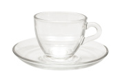 Maxwell & Williams 90 ml Blend Glass Espresso Cup and Saucer, Set of 6