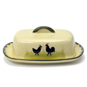 Zeller Ceramic Cock and Hen Butter Dish