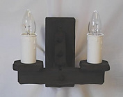 Traditional Rustic Wooden 2-Light Wall Light / Wall Bracket