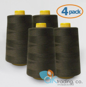 AK-Trading 4-Pack Serger Cone Thread (4000 yards each) of Polyester thread for Sewing, Quilting, Serger