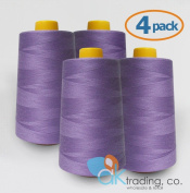 AK-Trading 4-Pack LAVENDER Serger Cone Thread (4000 yards each) of Polyester thread for Sewing, Quilting, Serger