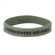 Air Force Silicone Wristbands - Olive W01S43B