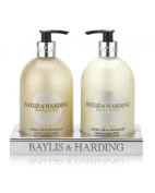 'Baylis & Harding' Jojoba, Silk & Almond Oil 500ml Hand Wash & 500ml Hand/Body Lotion In Acrylic Stand. A beautiful gift
