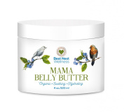 Mama Belly Butter by Best Nest Wellness, BEST Organic Prenatal Skin Care Cream for Pregnancy & Beyond, Reduces Risk of Stretch Marks During Pregnancy, Diminishes Marks After Delivery, 120ml