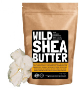 Organic Shea Butter - Unrefined, Raw, Virgin, Fair Trade Handcrafted, Extra Creamy, Non Grainy, Purest Grade A, Perfect for homemade soap, balms, skin care, lotions and hair products