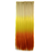 Abwin Blonde to Yellow to Orange Coloured Clip in Hair Extensions