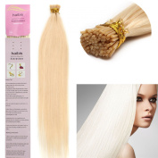 haibis Remy Pre Bonded Keratin Stick I-tip Human Hair Extensions Straight 100s