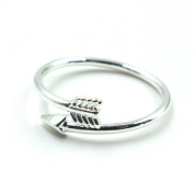 Kingfansion Fashion Lady Attractive Alloy Double Arrow Finger Rings Gift