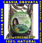 500g - Pure Cassia Obovata Neutral Henna senna ZENIA BRAND By Herbal Beauty Supply
