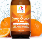 NEW xSight Sweet Orange Facial Toner by InterSight - 120ml - Finest Grade Organic Antioxidant Skin Toner for Face with Citrus Aurantium Dulcis Water, Aloe, Green Tea, Macha Rose - A Natural Exfoliant