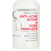 Acne Treatment for Face & Pore Minimizer Serum - Dermatologist Tested Product, Made with Revolutionary Evermat®, Great for Anti Acne Spot Treatment,Visibly Reduces Blemishes & Smoothes Complexion 30ml