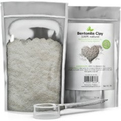 100% Pure Bentonite Clay Powder (0.5kg) with Scooper for Facial Masks, Acne & Hair - Resealable Pouch - Mix with Essential Oils for Anti Ageing Properties - USA Made By Honeydew Products