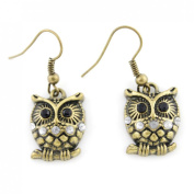 Exquisite Vintage Retro Anti-brass OWL Drop Earrings