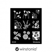 Winstonia Nail Art Stamping Image Plate Series 1 - Floral