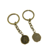 30 PCS Keyrings Keychains Key Ring Chains Tags Jewellery Findings Clasps Buckles Supplies L2BR1 Crown Cat Signs