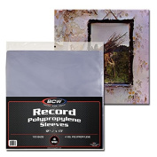 1000 BCW 33 1/3 RPM Album - 30cm Record - Laser Disc Outer Sleeves - BCW Brand - 4 Mil Thick