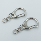 25 PCS key ring Keychain with Swivel Connectors Hook for Swivel Clip Snap Hook Trigger