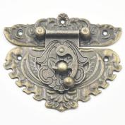 Bluemoona 5 Pcs - Latch Hook Lock Decorative Jewellery Gift Wooden Box Hasp Flower With Screws 58MMx68MM