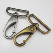 """10 15 PCS METAL SWIVEL CLIPS 1.5"""" 38mm Hook SNAP TRIGGER Clip for Leather Hardware Craft Straps Buckles Ribbons"""