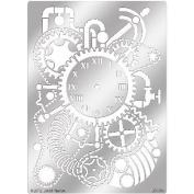 Dreamweaver Metal Stencil 23cm x 15cm -Steampunk Clock