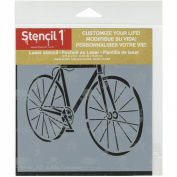 Stencil1 15cm x 15cm Stencil-Bike Fixed Gear