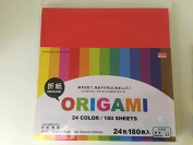 24 Colour Origami-180 Sheets