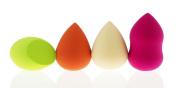 4PC Pro Beauty Flawless Makeup Sponge Blender Foundation Puff Multi & Unique Shape Sponges - Zakka Republic