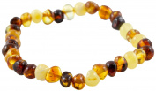 Healing Hazel 100% Balticamber Baby Necklace, Multi Polished, 14cm