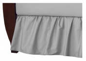 TL Care 100% Cotton Percale Crib Bed Skirt, Grey
