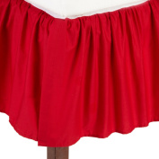 TL Care 100% Cotton Percale Crib Bed Skirt, Red