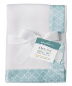 BreathableBaby Deluxe Modal Knit Baby Blanket, Seafoam