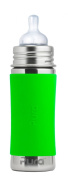 Pura Kiki Stainless Steel Infant Bottle with Silicone Sleeve, 330ml