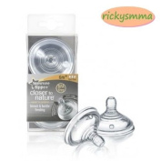New Tommee Tippee Baby Closer to Nature teats Nipples Fast Flow teat 6m+ by Ohm Shop.