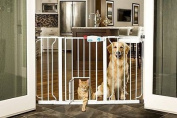 Extra Wide Walk-Thru Baby, Pet Safety Gate Tall with Small Pets Cat Dog Door NEW