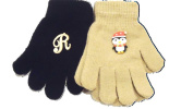 Set of Two Pairs Magic Gloves One with Monogram for Infants 1-4 Years.