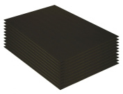 Mat Board Centre, Pack of 10 20cm x 26cm BLACK Foam Core Backing Boards
