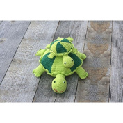 Organic Turtle Toy - Crocheted Baby Toy - Large