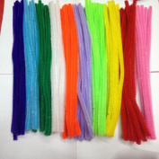 100pcs Handmade Children DIY Educational Shilly Stick Plush Materials Toys