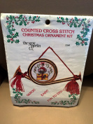 Counted Cross Stitch Christmas French Horn Ornament Kit