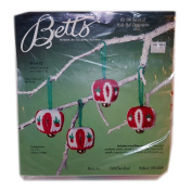 Betts Needle Art By Betty Schiller Set of 12 Holly Bell Ornaments Kit No. 596