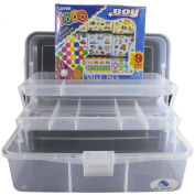 2 Tray Storage Box with Stickers for Boys