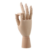 "Durable Wooden 20cm "" Jointed Manikin Mannequin Model Right Hand for Art Drawing"